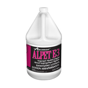 ALPET E3 Alcohol Sanitizing Lotion