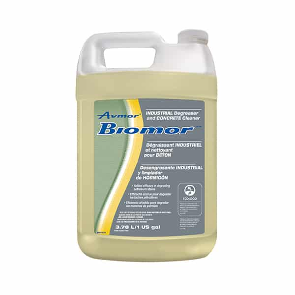 Biomor industrial degreaser and concrete cleaner avmor for Industrial concrete cleaner